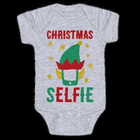 Christmas Selfie Baby Onesy