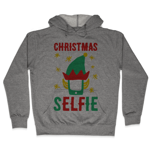 Christmas Selfie Hooded Sweatshirt