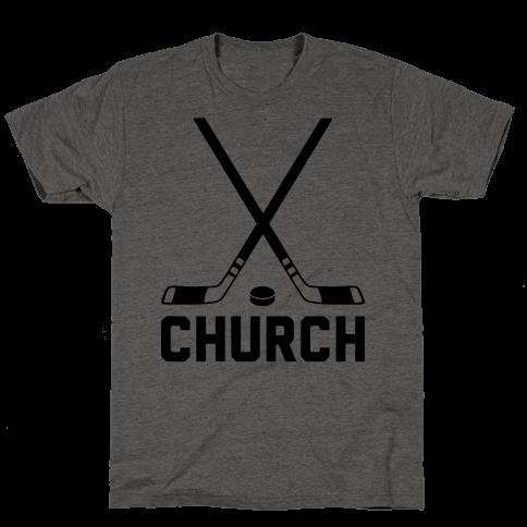Hockey Church Mens T-Shirt