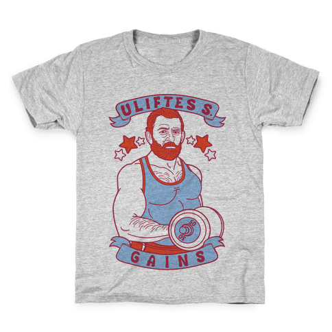 Uliftes S. Gains Kids T-Shirt