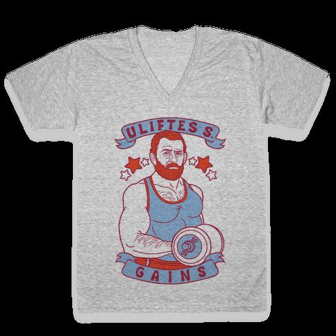 Uliftes S. Gains V-Neck Tee Shirt