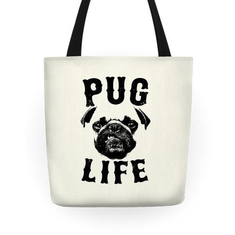 It/'s a Pug/'s Life Large organic tote bag