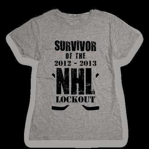 NHL Lockout Survivor Womens T-Shirt