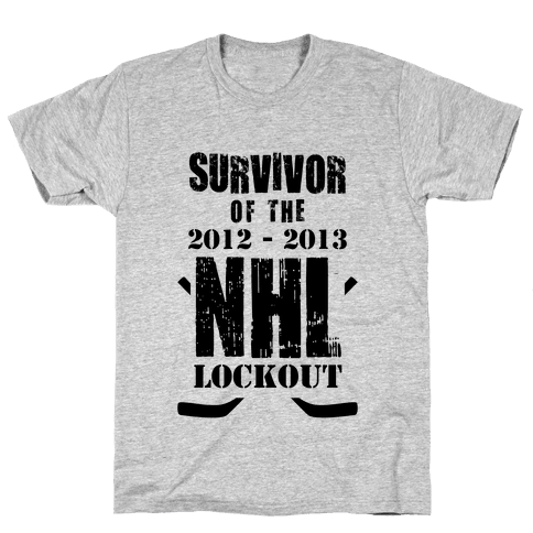 NHL Lockout Survivor Mens T-Shirt