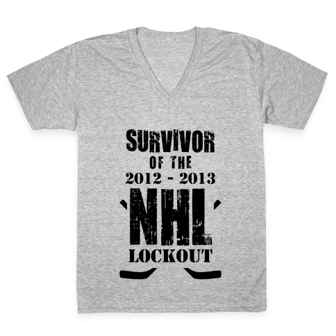NHL Lockout Survivor V-Neck Tee Shirt
