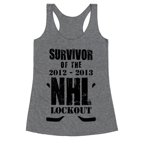 NHL Lockout Survivor Racerback Tank Top