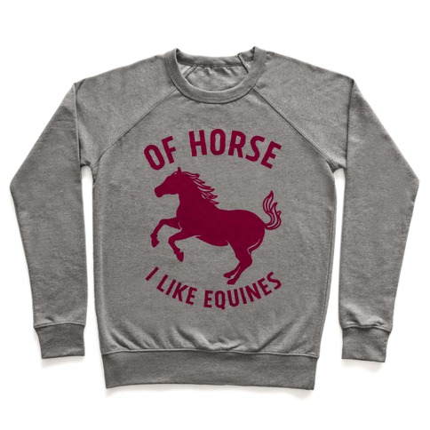 Of Horse I Like Equines Pullover