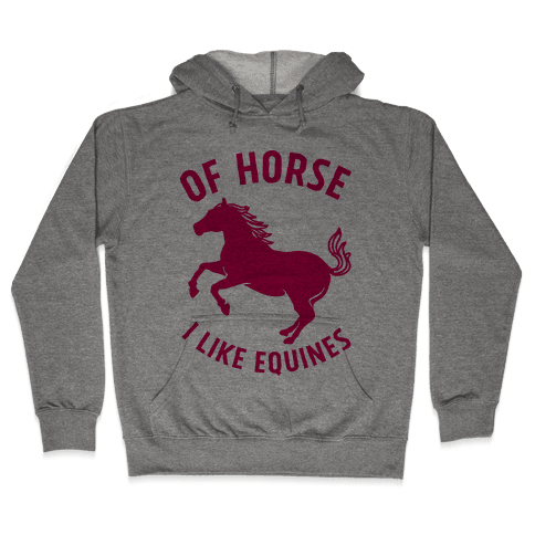 Of Horse I Like Equines Hooded Sweatshirt