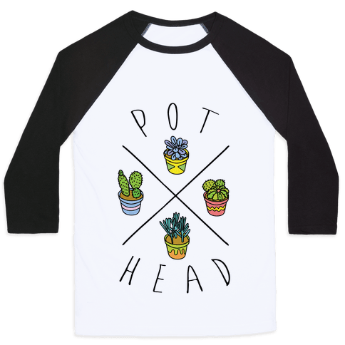 Pot Head Succulents Baseball Tee