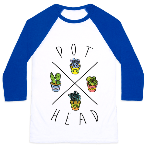 Pot Head Baseball Tee