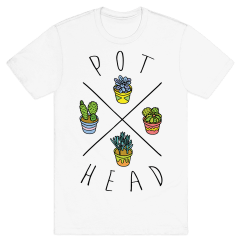 Pot Head Succulents Mens T-Shirt