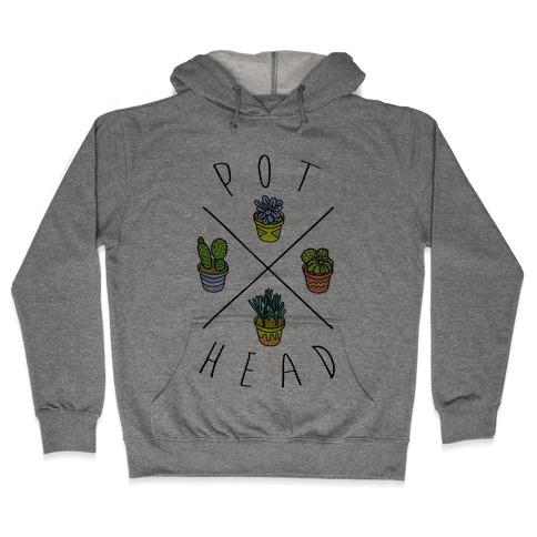 Pot Head Succulents Hooded Sweatshirt