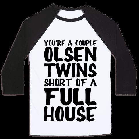 A Couple Olsen Twins Short Baseball Tee