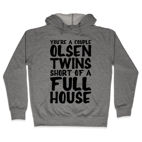A Couple Olsen Twins Short Hooded Sweatshirt