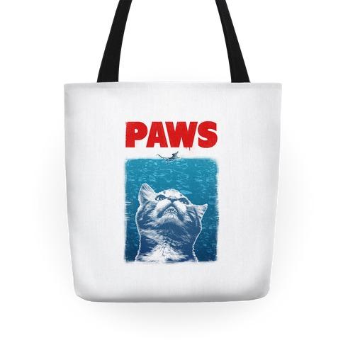PAWS (Jaws Parody) Tote
