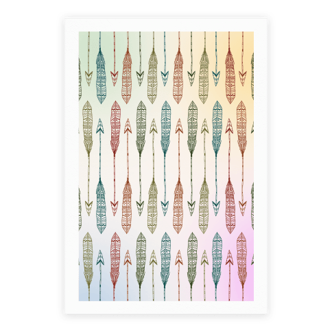 Aztec Arrows Poster
