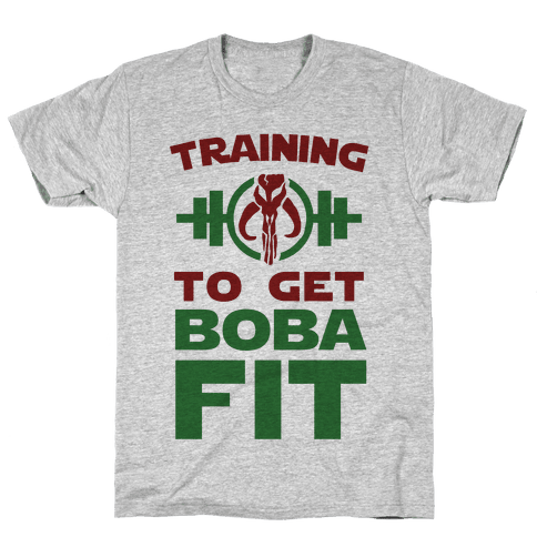 Training to Get Boba Fit Mens T-Shirt