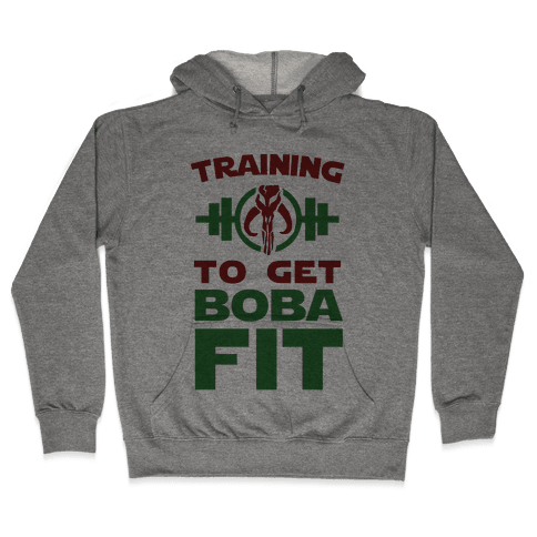 Training to Get Boba Fit Hooded Sweatshirt