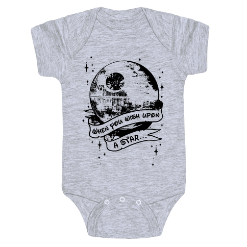 When You Wish Upon A Death Star Baby Onesy