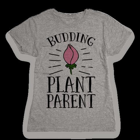 Budding Plant Parent Womens T-Shirt
