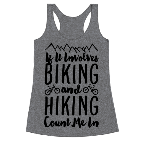 Biking and Hiking Racerback Tank Top