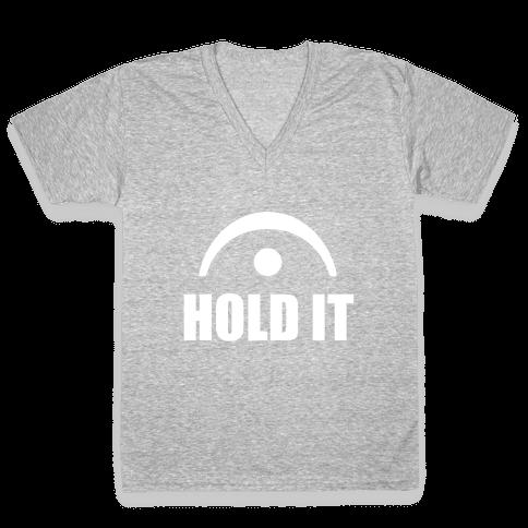 Hold It (Fermata) V-Neck Tee Shirt