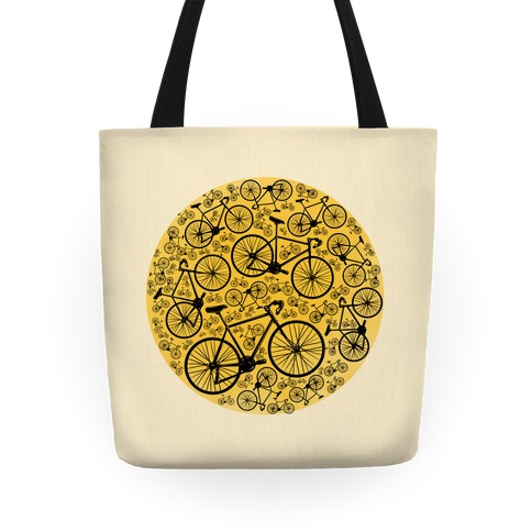 All Bikes Go Full Circle Tote
