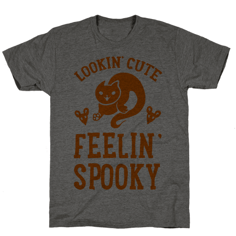 Lookin' Cute. Feeling Spooky. Mens T-Shirt