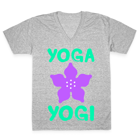 Yoga Into A Yogi V-Neck Tee Shirt