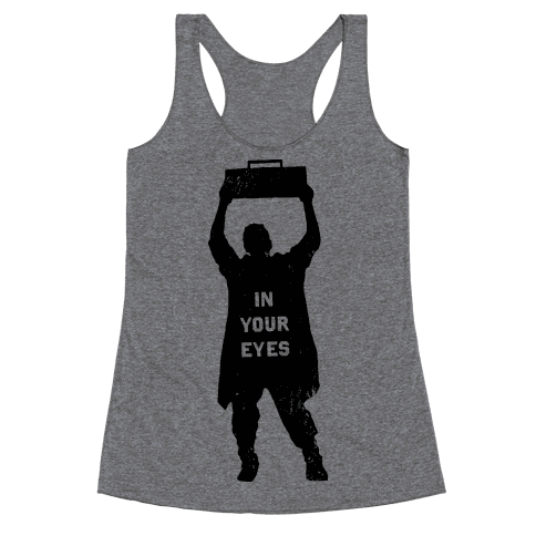 He'll Say Anything Racerback Tank Top