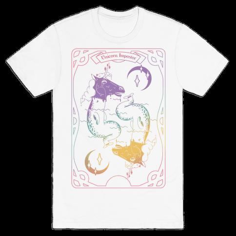 Unicorn Impostor Tarot Mens T-Shirt