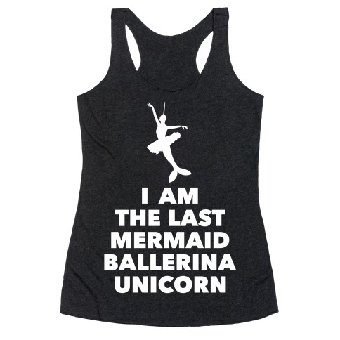 Mermaid Ballerina Unicorn Racerback Tank Top