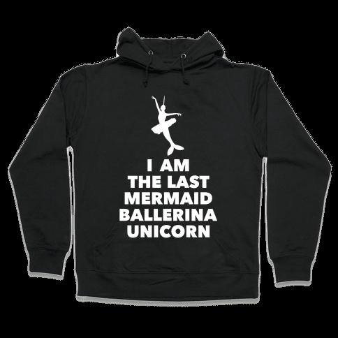 Mermaid Ballerina Unicorn Hooded Sweatshirt