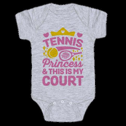 Tennis Princess Baby Onesy