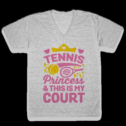 Tennis Princess V-Neck Tee Shirt