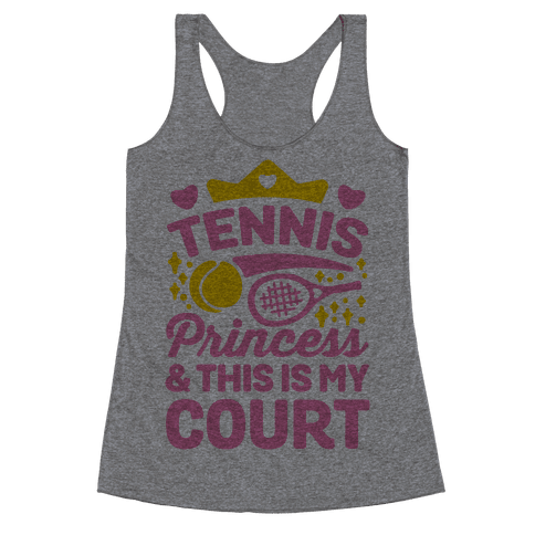 Tennis Princess Racerback Tank Top