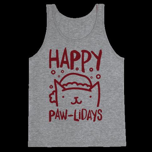 Happy Paw-lidays  Tank Top