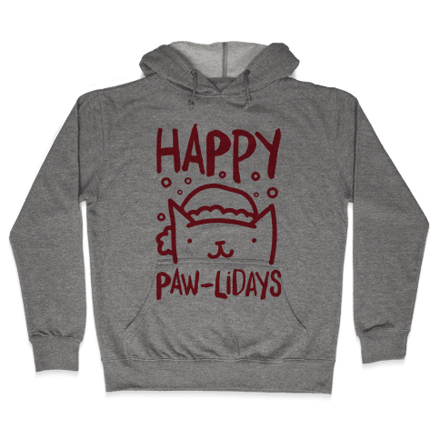 Happy Paw-lidays  Hooded Sweatshirt