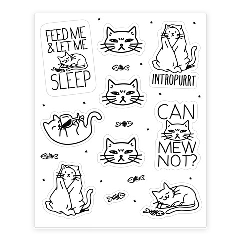 Sassy Cat Sticker and Decal Sheet