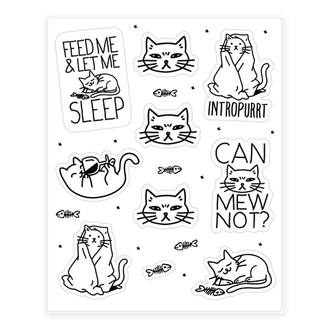 Sassy Cat  Sticker/Decal Sheet