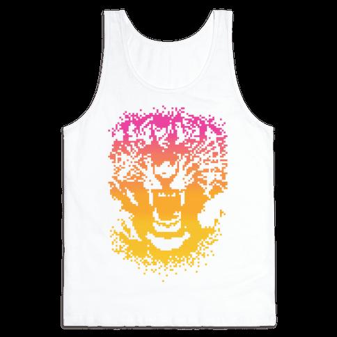 Pixel Tiger Tank Top