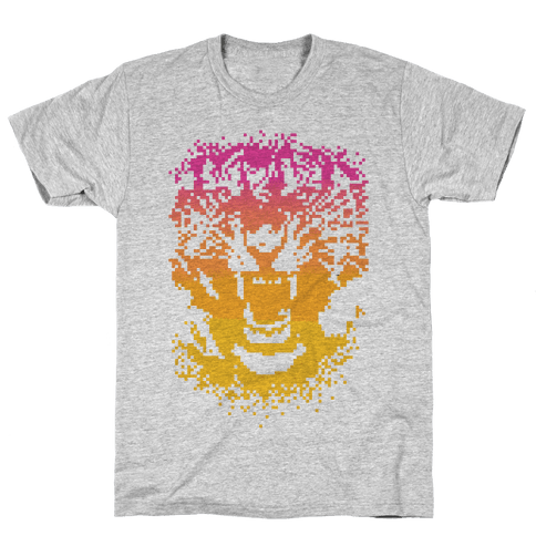 Pixel Tiger Mens T-Shirt
