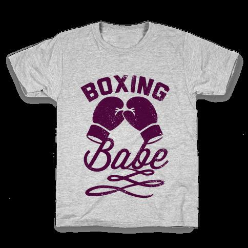 Boxing Babe (Vintage) Kids T-Shirt