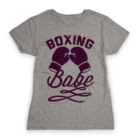 Boxing Babe (Vintage) Womens T-Shirt