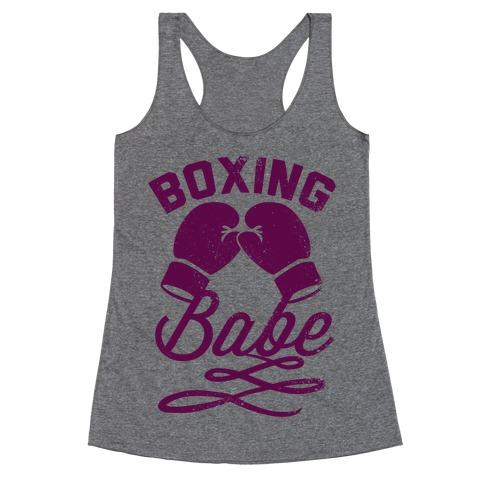 Boxing Babe (Vintage) Racerback Tank Top