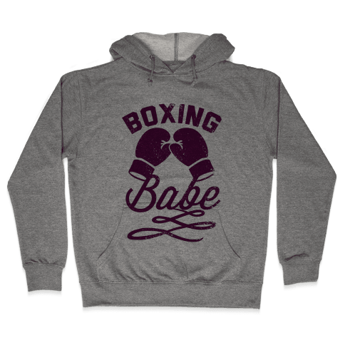 Boxing Babe (Vintage) Hooded Sweatshirt