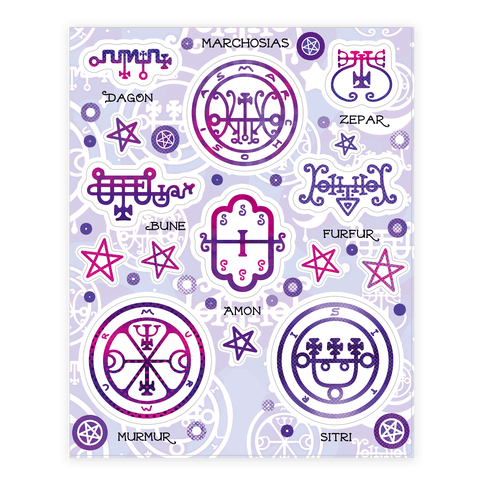 Demon Sigil  Sticker/Decal Sheet