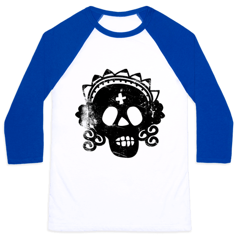 Sugar Skull Bride Baseball Tee