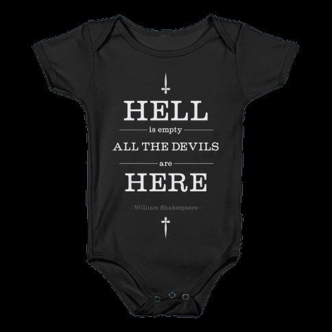 Hell is Empty Baby Onesy