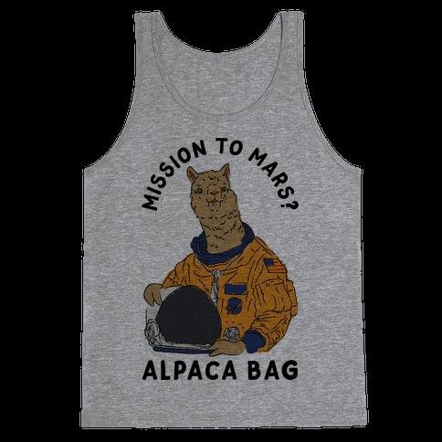 Mission to Mars Alpaca Bag Tank Top